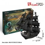 3D professional puzzle: Queen Anne's Revenge CubicFun ship model