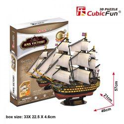 3D puzzle: HMS Victory CubicFun 3D jármű makettek