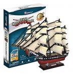 3D puzzle: USS Constitution CubicFun 3D ship models