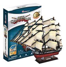 3D puzzle: USS Constitution CubicFun 3D hajó makettek