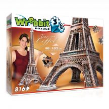 3D professional puzzle: Eiffel tower 3D famous building models - WREBBIT